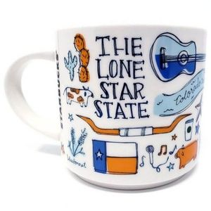 STARBUCKS Texas Ceramic Mug Been There Series 14oz